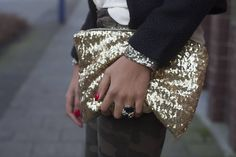 Gold Sequined camuflage