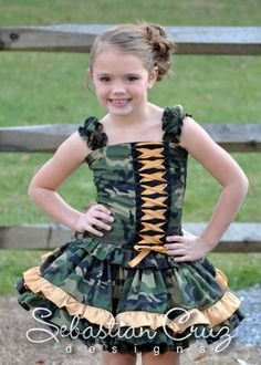 Soldier Girl Skirt Set - Army