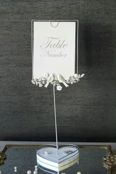 Cute table name holder Table Name Holders, Wedding Table Number Holders, Wedding Table Numbers, Place Card Holders, Rustic Wedding, Our Wedding, Dream Wedding, Wedding Stuff, Wedding Ideas