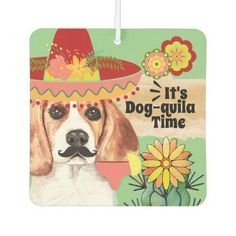 Funny Beagle Mexico cactus tequila time Air Freshener  baby with puppy, hunting puppy, puppy 101 #husky #like #follow, back to school, aesthetic wallpaper, y2k fashion Mexico Cactus, Funny Labs, Beagle Gifts, Mexican Hat, Cute Beagles, Adoptable Beagle, Teacup Chihuahua, Beagle Puppy, Pet Fashion