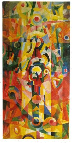 Johannes Itten, Ascent and Pause, 1919. Johannes Itten was a Swiss expressionist painter, designer, teacher, writer and theorist associated with the Bauhaus school. The Bauhaus succeeded in breaking down hierarchal notions of art disciplines, and believed that there was no difference between the artist and the craftsmen.