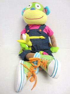 Alex Little Hands Plush Monkey Learn to Dress #Alex