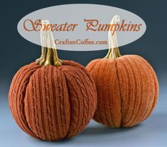 Patty Schaffer is sharing another sweater craft today – Sweater Pumpkins. She made her Sweater Pumpkins from two different orange sweaters, and I love the variations in colors and textures. You mig...