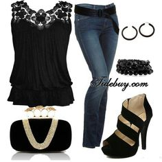 By far one of my favorites outfits! I'm a black top and jeans kinda girl..♥