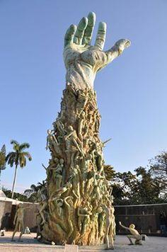 IMPRESSIVE HOLOCAUST MEMORIAL IN MIAMI BEACH, FLORIDA