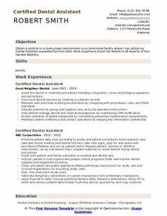 8 Dental assistant Objective Resume 1