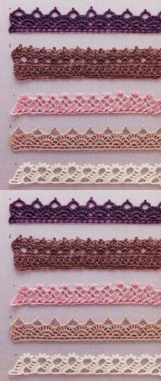 New Crochet Bookmark Pattern Hooks Ideas Crochet Boarders, Crochet Edging Patterns, Crochet Lace Edging, Crochet Motifs, Crochet Trim, Crochet Doilies, Crochet Flowers, Crochet Stitches, Knitting Patterns