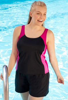 this is it for aqua aerobics!  I like skirts but in class they float up and get in the way.  So this is just like wearing shorts and a tank top.  should be great especially since it's also chlorine resistant.  and with my $20 gift card it will be $16.40!  SCORE!!!!  Its not sexy but i hate to tell ya, neither is aqua aerobics.  :)