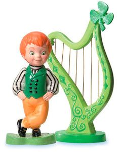 """It's A Small World, Ireland - Boy and Harp - """"A Merry Jig"""" Retired Edition 10/09 $99"""