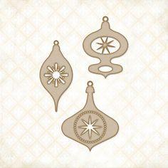 Blue Fern Studios > Retro Ornaments Chipboard Shapes - Blue Fern Studios: A Cherry On Top