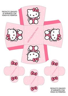 Imprimibles Hello Kitty rosa - www.susaneda.com Hello Kitty Baby Shower, Hello Kitty Theme Party, Hello Kitty Themes, Hello Kitty Cake, Hello Kitty Birthday, Hello Kitty Halloween, Hello Kitty Crafts, Anniversaire Hello Kitty, Hallo Kitty