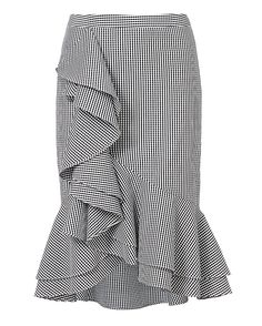 Shop the  Slyvia Ruffle Front Gingham Skirt & other designer styles at IntermixOnline.com. Free shipping +$150.