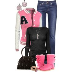 """""""PinkBoots"""" by hollyhalverson on Polyvore"""
