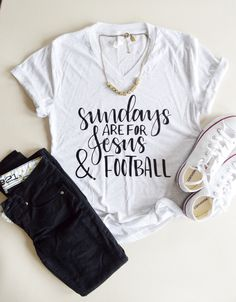 Jesus and Football - Christian Tee - Woman Football Shirt - Jesus Shirt - Sunday Shirt - Mom Shirt - Football - Faith - Tops by GraceAndCrew on Etsy https://www.etsy.com/listing/400787685/jesus-and-football-christian-tee-woman