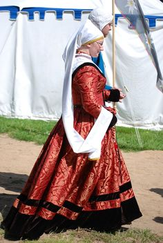 My silk dress that I wore for my elevation to the Order of the Laurel in the SCA.