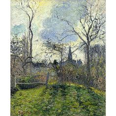 """One of my favorites at the St. Louis Art Museum """"The Bell Tower of Bazincourt"""" -Camille Pissarro"""
