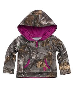 Another great find on #zulily! Brown Realtree Xtra® Camo Quarter-Zip Hoodie - Toddler by Carhartt #zulilyfinds