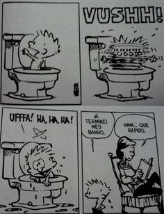 Calvin and Hobbes - doesn't matter what language, it's funny! Uffa!