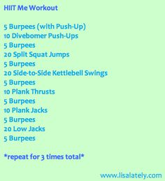 HIIT bootcamp workout