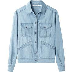 Étoile Isabel Marant Pilar Chambray Shirt Jacket ($290) ❤ liked on Polyvore