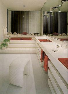 1970's stepped formica bathroom