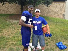 Thank you, Arthur Moats and the Buffalo Bills! (Photo from Arthur Moats: Sgt Eric Rodriguez #operationgratitude sgt served in marines injured in Afghanistan. #realhero)