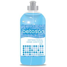 The Betasan™ 500ml Antibacterial Hand Sanitiser Gel squeeze bottle is waterless, fast-drying and more viscous than our liquid spray sanitisers, which increases the contact time & efficacy of the 60% ethyl alcohol (as per WHO recommendations) in this formulation.  Its strong alcohol-based, fast-drying, effective formula is SABS-approved and offers protection against 99.9% of known germs. Betasan™ Antibacterial Hand Sanitiser Gel has been developed for use by healthcare facilities & medica Hand Sanitizer, Health Care, Alcohol, Strong, Personal Care, Bottle, Products, Rubbing Alcohol, Self Care