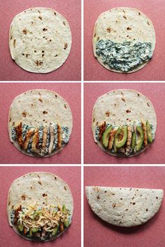 Spinach and Chicken Quesadillas