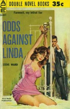 """Ace Books - A Key To the Morgue......""""Odds Against Linda """"- Robert Martin"""
