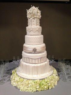 Elegant bridal cake by Sweet Southern Ladies Designer Cakes llc