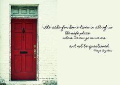 maya+angelou+red+door   RED DOOR quote Print by JAMART Photography