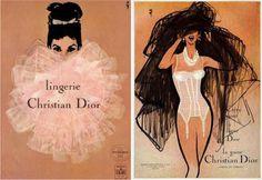 Dior Vintage advertisements by Gruau