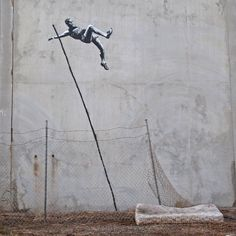 Going For Mould by Banksy.  He's an excellent graffiti artist in London, England for those of you who don't know him.  There's documentaries on Netflix narrated/about him.  Excellent afternoon entertainment.