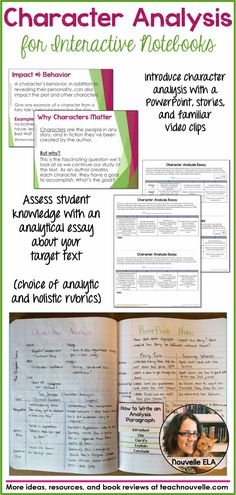 This Character Analysis lesson for Interactive Notebooks (ISNs) works with any novel. It uses video clips, fairy tales, and a PowerPoint to introduce students to the concept of analyzing character, and then moves to the target text. Students finish with an analytical essay about a character in the text. I use this with The Adventures of Tom Sawyer by Mark Twain, but this resource includes an editable essay prompt that you can use with the text of your choice. (grades 6-10)