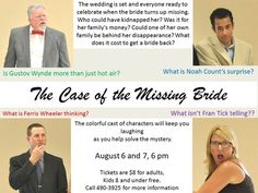 The Case of the Missing Bride When the bride disappears right before the ceremony, the bridal party comes under suspicion.  Who wants to stop the wedding badly enough to commit a crime?  The...