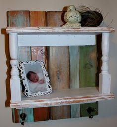 Super cute shelf idea from scraps of wood.