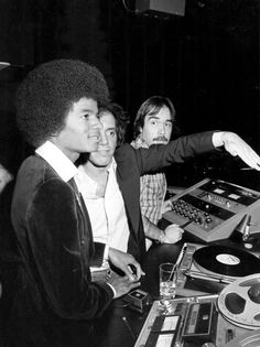 One Night at Studio 54: Michael Jackson and Steve Rubell in the DJ Booth by Russel C. Turiak, 1977