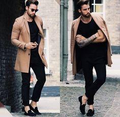 #tshirt #jeans #coat #camel #black #sunglasses #streetstyle #style #menstyle #manstyle #menswear #fashion #mensfashion