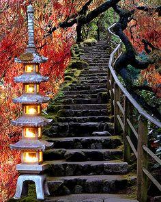 Japanese Garden collage, Portland, OR - ©MesmanImages (via Etsy)