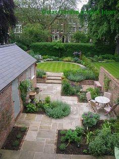 Garden Design Plans, Small Garden Design, Patio Design, Exterior Design, Wall Design, Diy Exterior, Terrace Design, Exterior Remodel, Design Design