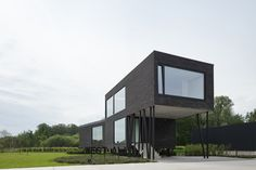 Bilder Zur BauNetz Architektur Meldung Vom : Stelzen Aus Stahl /  Bürogebäude In Belgien   Aktuelle Architekturmeldungen Aus Dem In  Und  Ausland, ...