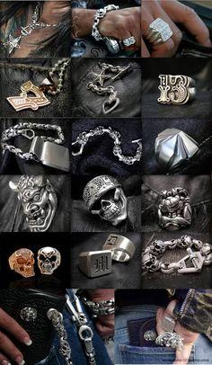 Skull Jewelry, Gothic Jewelry, Skull Rings, Skull Bracelet, Jewelry Tools, Jewelry Design, Moda Geek, Custom Jewelry, Handmade Jewelry