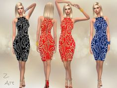 Every Party dress by Zuckerschnute20 at TSR via Sims 4 Updates