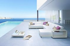 Infinity pool. Furniture by Roberti through stardust.com.