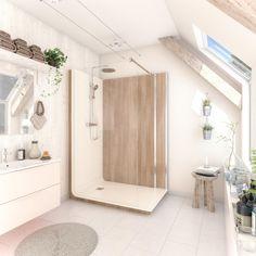 Cabine de douche x cm blanc, verre transparent, Serenity bois LT AQUA Aqua, Transparent, Alcove, Bathtub, Bathroom, Storage, House, Furniture, Serenity