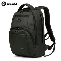 YESO Business Travel Laptop Men Backpack 14 15.6 inch Multifuntion Bag  College School Bags Waterproof Oxford 1e58620fd98b1