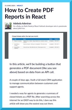 In this article, you'll be building a button that generates a PDF document based on data from an API call.