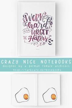 crazy nice notebooks.designs by a german female architect. available in blanco, lined and rasters. custom made for your order.