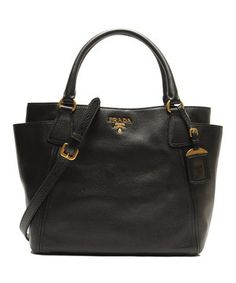 prada galleria tote with front pocket