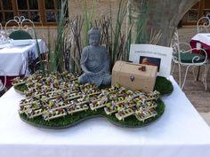 support pour dragées sur le thème Zen